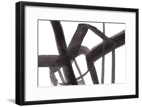 Black and White Abstract Painting 6-Jaime Derringer-Framed Art Print