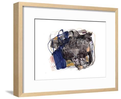 Abstract Painting 140409-1-Jaime Derringer-Framed Art Print