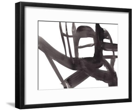 Black and White Abstract Painting 4-Jaime Derringer-Framed Art Print
