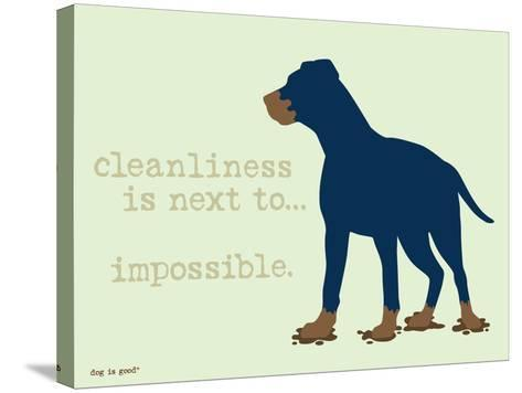 Cleanliness-Dog is Good-Stretched Canvas Print