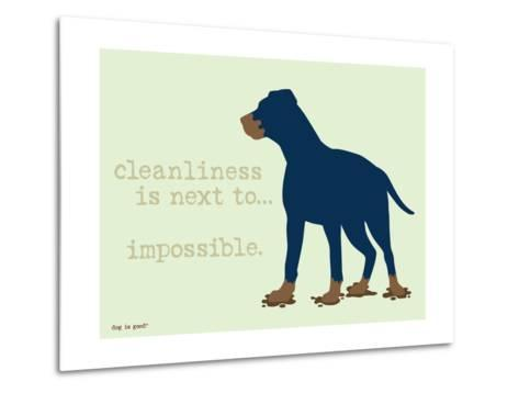 Cleanliness-Dog is Good-Metal Print