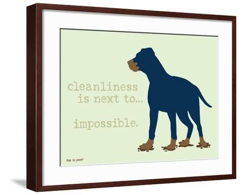 Cleanliness-Dog is Good-Framed Art Print