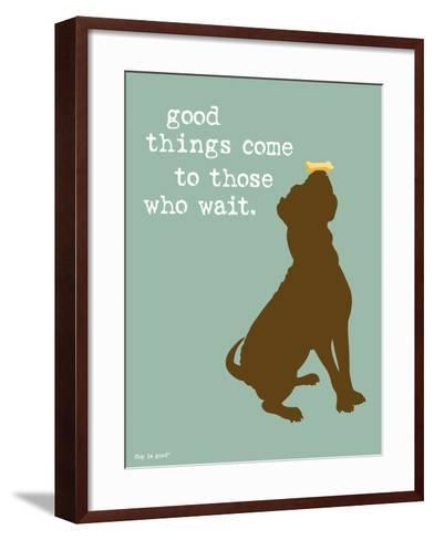 Good Things-Dog is Good-Framed Art Print