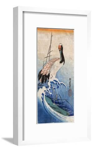 Hiroshige: Crane, C. 1834-Ando Hiroshige-Framed Art Print