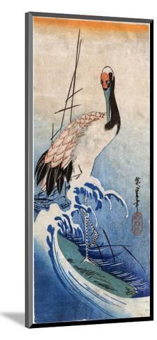 Hiroshige: Crane, C. 1834-Ando Hiroshige-Mounted Giclee Print
