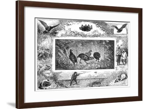 Quail Hunting, 1880--Framed Art Print