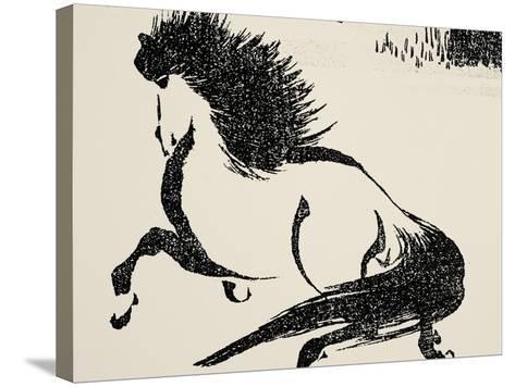 Horse, C1814-Katsushika Hokusai-Stretched Canvas Print