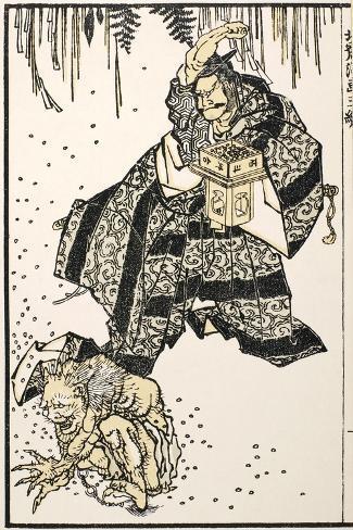 Setsubun, 1816-Katsushika Hokusai-Stretched Canvas Print
