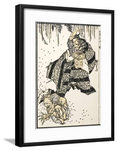 Setsubun, 1816-Katsushika Hokusai-Framed Art Print