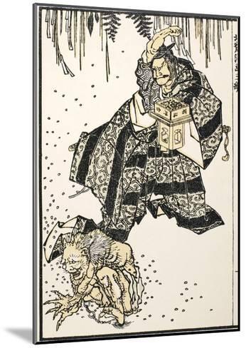 Setsubun, 1816-Katsushika Hokusai-Mounted Giclee Print