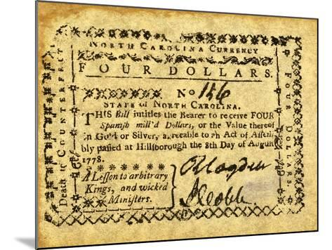Colonial Currency--Mounted Giclee Print