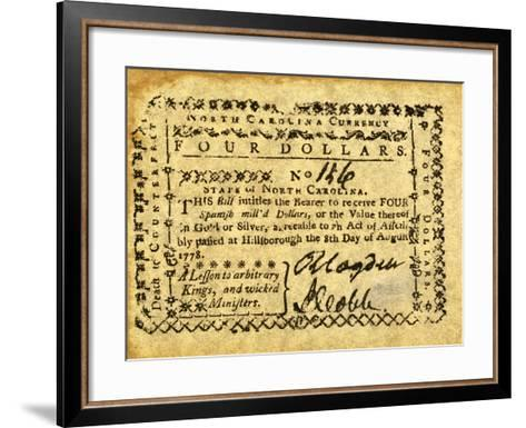 Colonial Currency--Framed Art Print