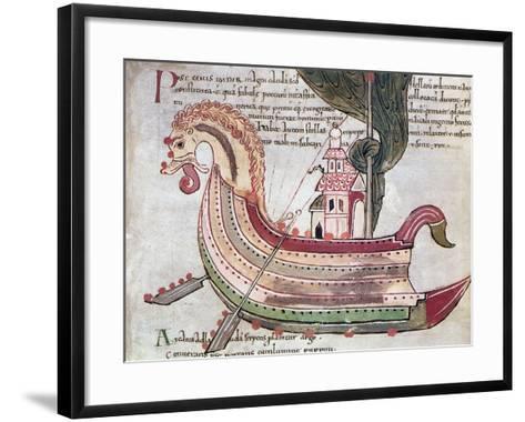Viking Ship, 10th Century--Framed Art Print