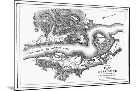 Plan of West Point, 1780--Mounted Giclee Print
