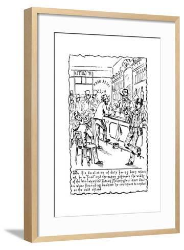 Immigrants: Irish, C1885--Framed Art Print