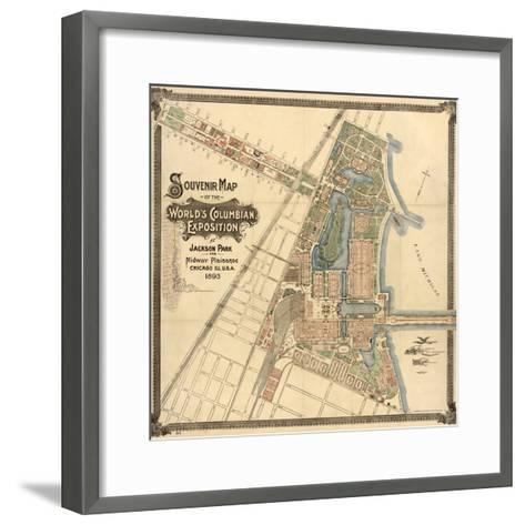 Map: World's Fair, 1893--Framed Art Print