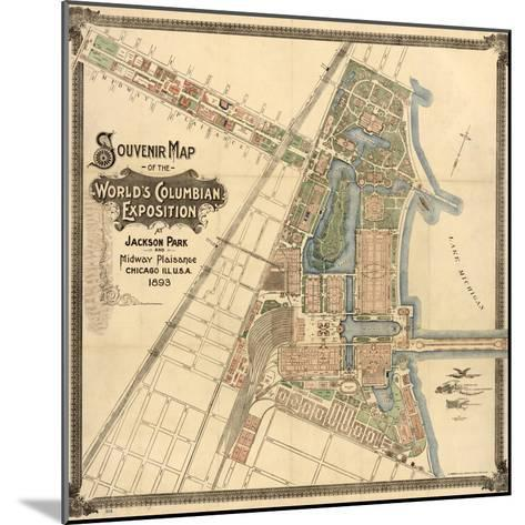 Map: World's Fair, 1893--Mounted Giclee Print