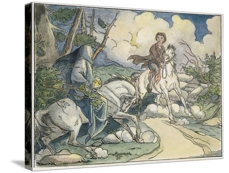 Irving: Sleepy Hollow, 1849-Felix O.C. Darley-Stretched Canvas Print