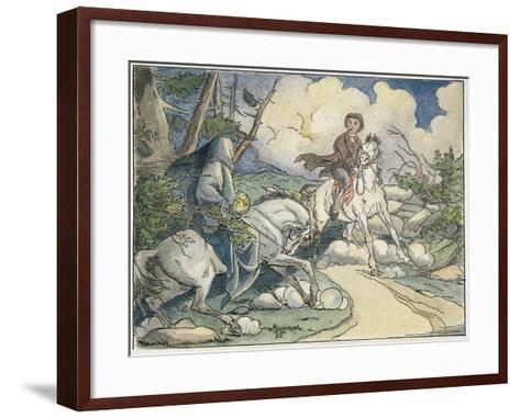 Irving: Sleepy Hollow, 1849-Felix O.C. Darley-Framed Art Print