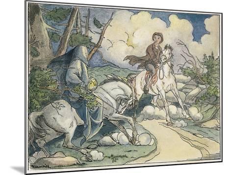 Irving: Sleepy Hollow, 1849-Felix O.C. Darley-Mounted Giclee Print