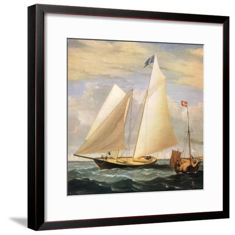 Yacht America, 1851-Fitz Hugh Lane-Framed Art Print