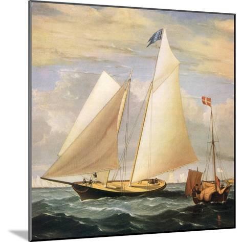 Yacht America, 1851-Fitz Hugh Lane-Mounted Giclee Print