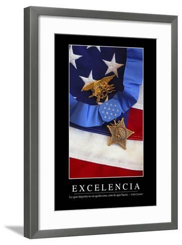 Excelencia. Cita Inspiradora Y Póster Motivacional--Framed Art Print