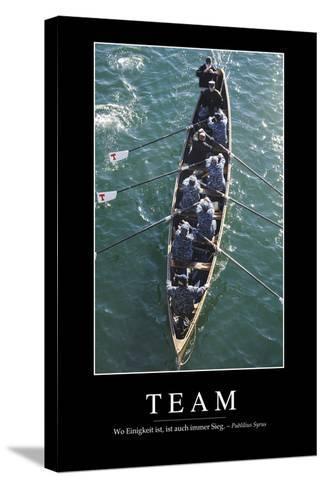 Team: Motivationsposter Mit Inspirierendem Zitat--Stretched Canvas Print