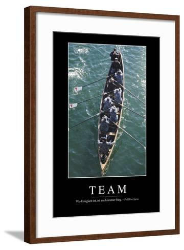 Team: Motivationsposter Mit Inspirierendem Zitat--Framed Art Print