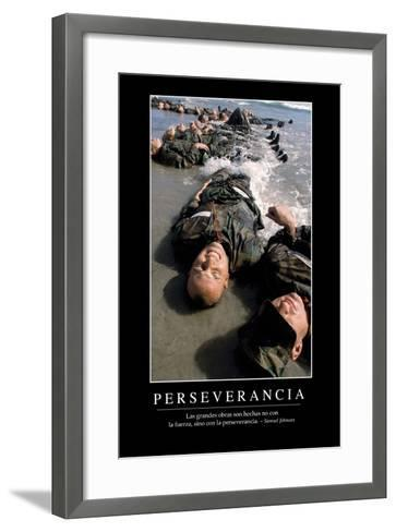 Perseverancia. Cita Inspiradora Y Póster Motivacional--Framed Art Print