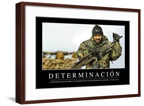 Determinación. Cita Inspiradora Y Póster Motivacional--Framed Art Print