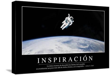 Inspiración. Cita Inspiradora Y Póster Motivacional--Stretched Canvas Print