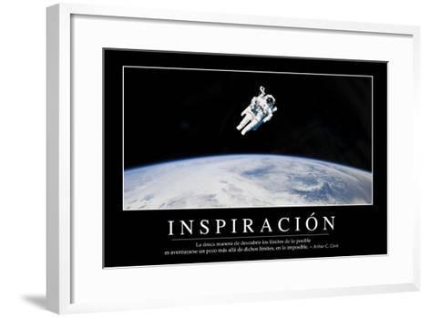 Inspiración. Cita Inspiradora Y Póster Motivacional--Framed Art Print