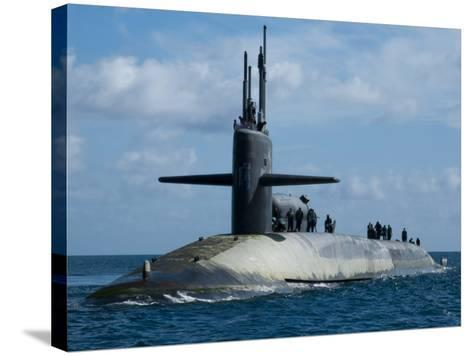 Sailors Aboard the Guided-Missile Submarine USS Georgia--Stretched Canvas Print
