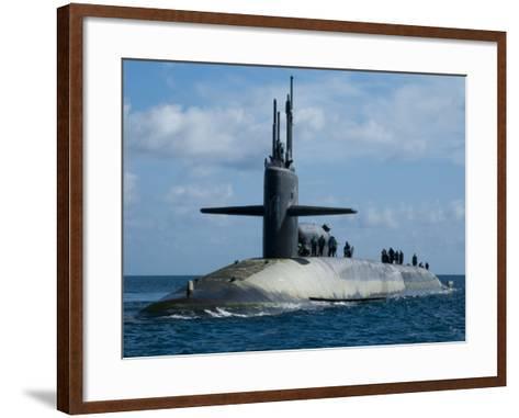 Sailors Aboard the Guided-Missile Submarine USS Georgia--Framed Art Print