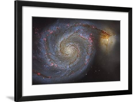 The Whirlpool Galaxy and its Companion Galaxy--Framed Art Print