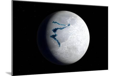 View of Earth 650 Million Years Ago During the Marinoan Glaciation--Mounted Art Print