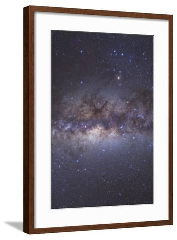 The Center of the Milky Way Through Sagittarius and Scorpius--Framed Art Print