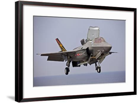 An F-35 Lightning Ii Prepares for Landing--Framed Art Print