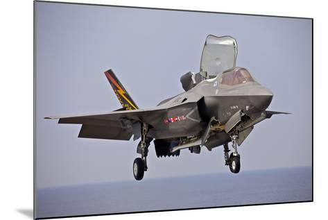 An F-35 Lightning Ii Prepares for Landing--Mounted Photographic Print