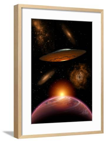 A Ufo on its Journey Through the Vastness of Our Galaxy--Framed Art Print
