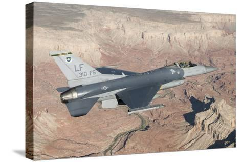 F-16C Fighting Falcon Flying over the Grand Canyon, Arizona--Stretched Canvas Print