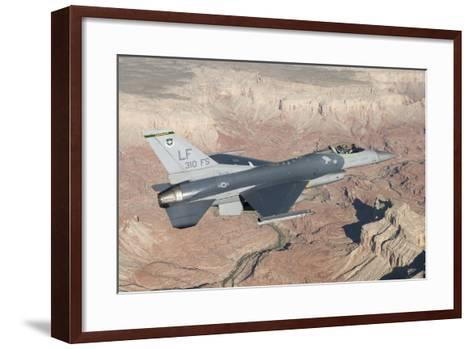 F-16C Fighting Falcon Flying over the Grand Canyon, Arizona--Framed Art Print