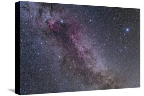 Constellations Cygnus and Lyra with Nearby Deep Sky Objects--Stretched Canvas Print