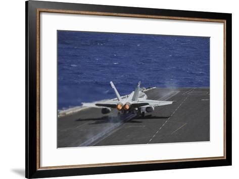 An F-A-18C Hornet Taking Off from USS Dwight D. Eisenhower--Framed Art Print