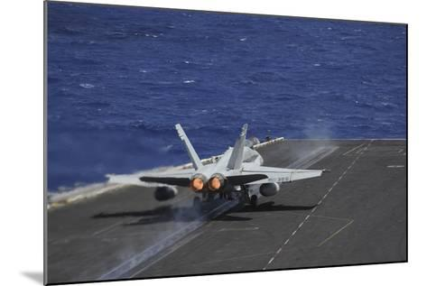 An F-A-18C Hornet Taking Off from USS Dwight D. Eisenhower--Mounted Photographic Print