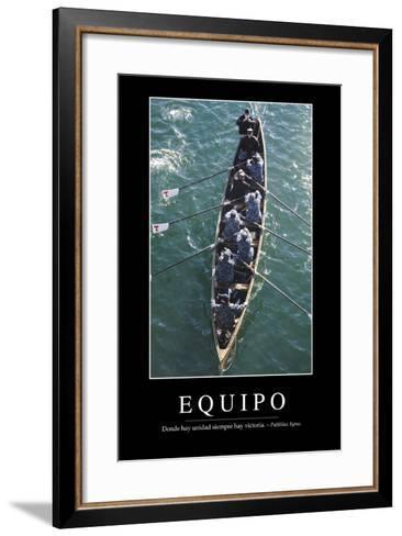 Equipo. Cita Inspiradora Y P?ster Motivacional--Framed Art Print