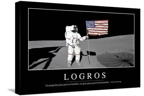 Logros. Cita Inspiradora Y Póster Motivacional--Stretched Canvas Print