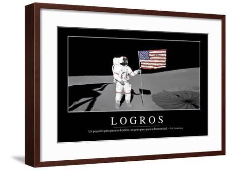 Logros. Cita Inspiradora Y Póster Motivacional--Framed Art Print