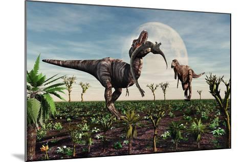 Tyrannosaurus Rex with a Freshly Killed Young Sauropod Dinosaur--Mounted Art Print